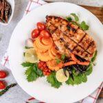 comida fitness com frango