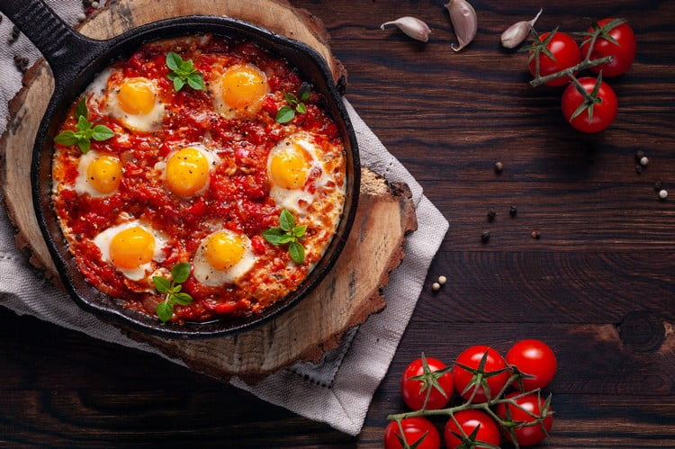 comida fitness com ovo